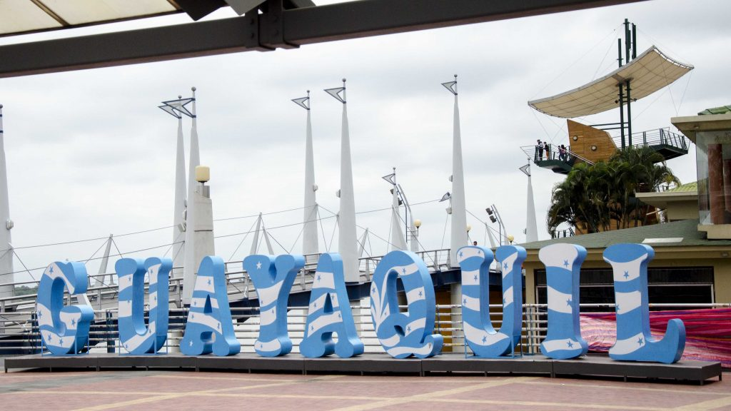 Guayaquil Sign on the Malecon