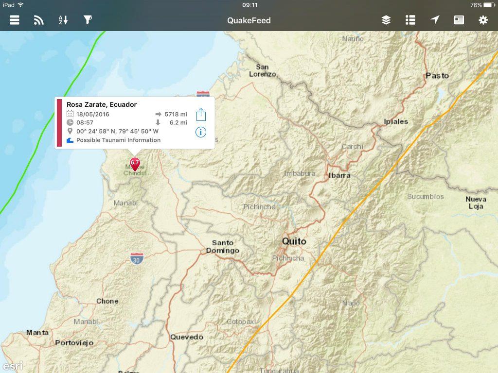 Earthquake in the Esmereldas