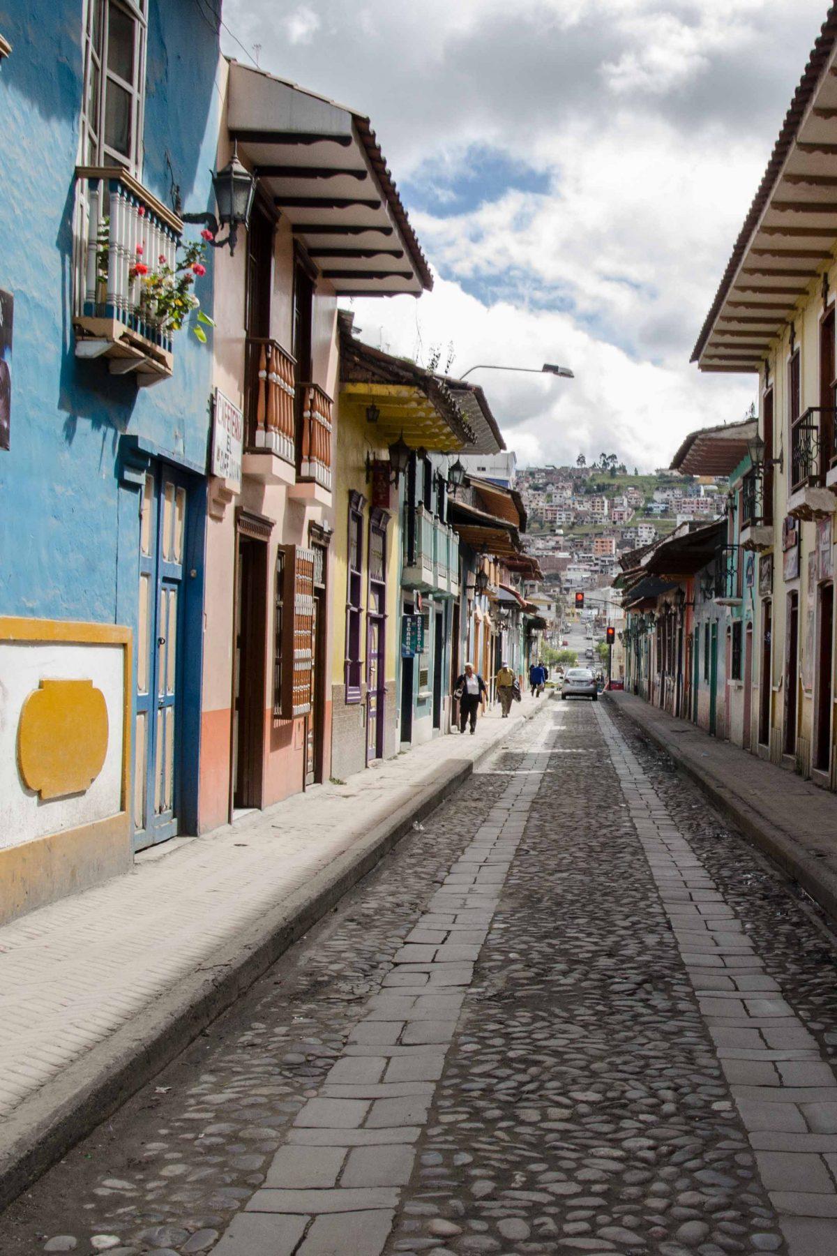 Calle Lourdes, Loja, Ecuador   © Angela Drake
