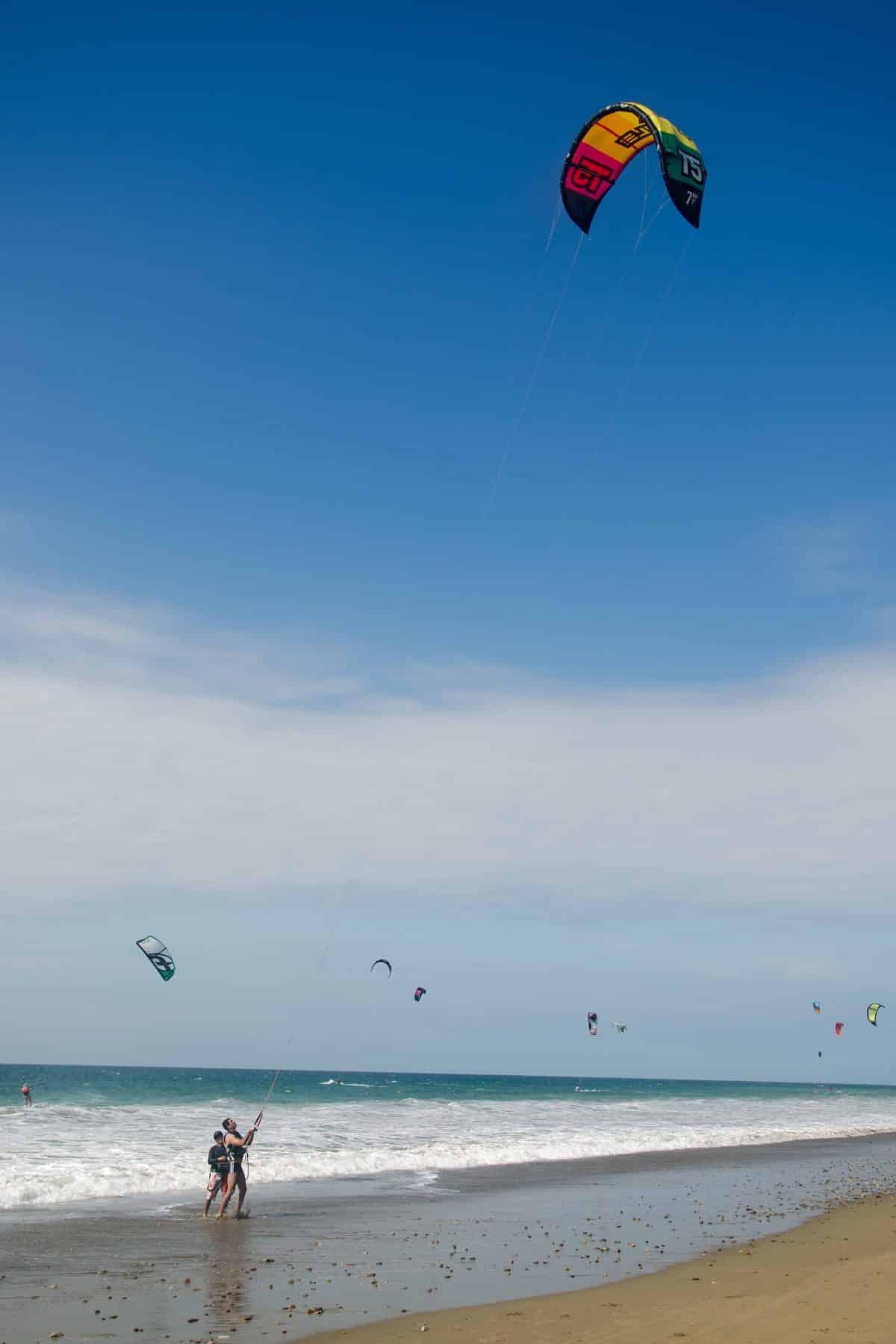 Windsurfing in Santa Marianita, Ecuador   ©Angela Drake / Not Your Average American