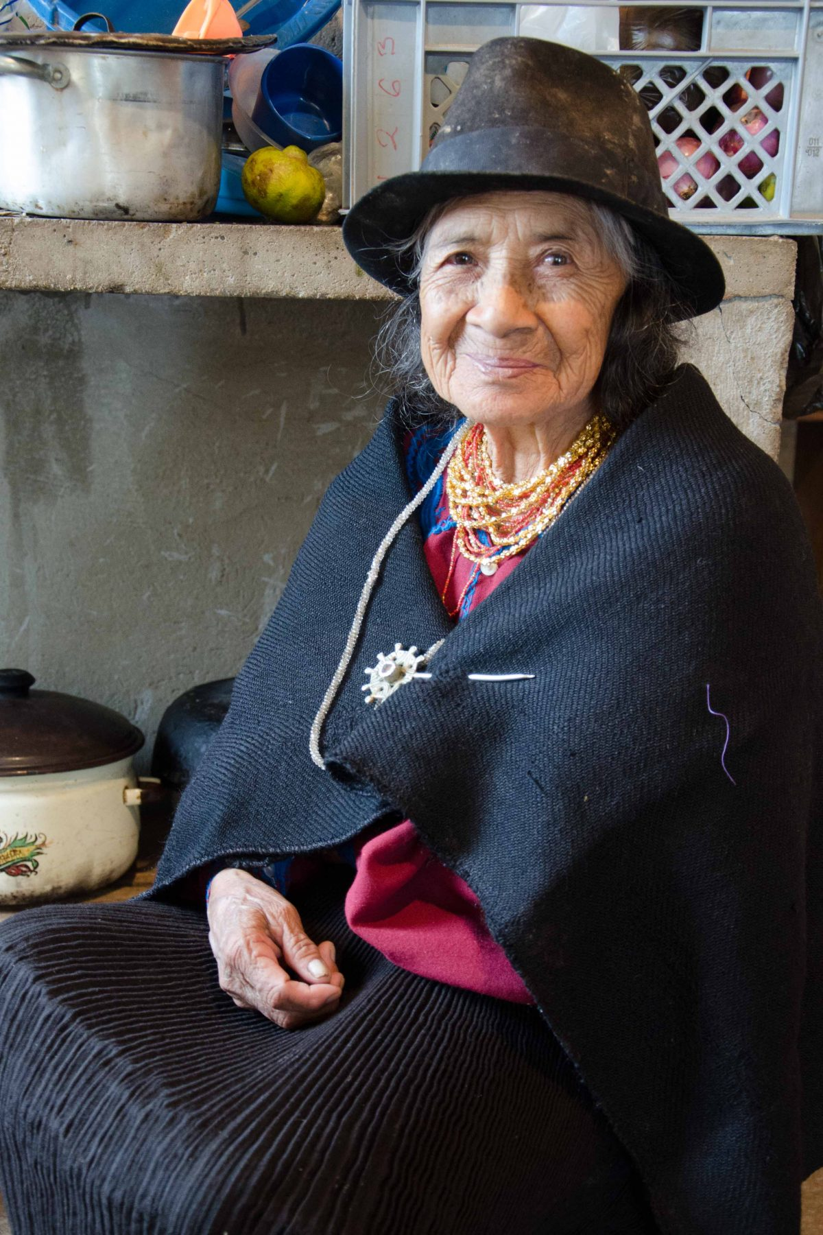 My friend's mother at her family home in the rural village of Tenta.
