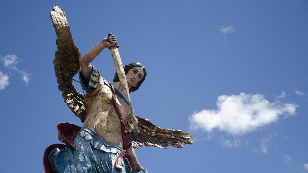 Backroads Ecuador; Statue in Sigchos