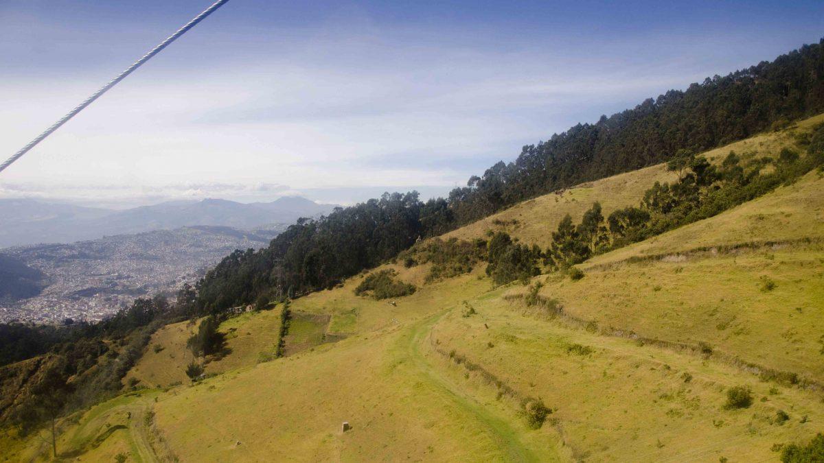 View from a Cable Car, Hiking Pichincha, Quito, Ecuador | ©Angela Drake