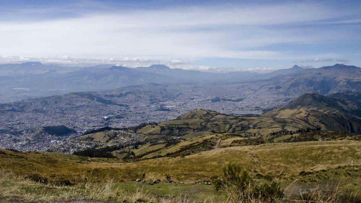 View from the Top, Hiking Pichincha, Quito, Ecuador   ©Angela Drake