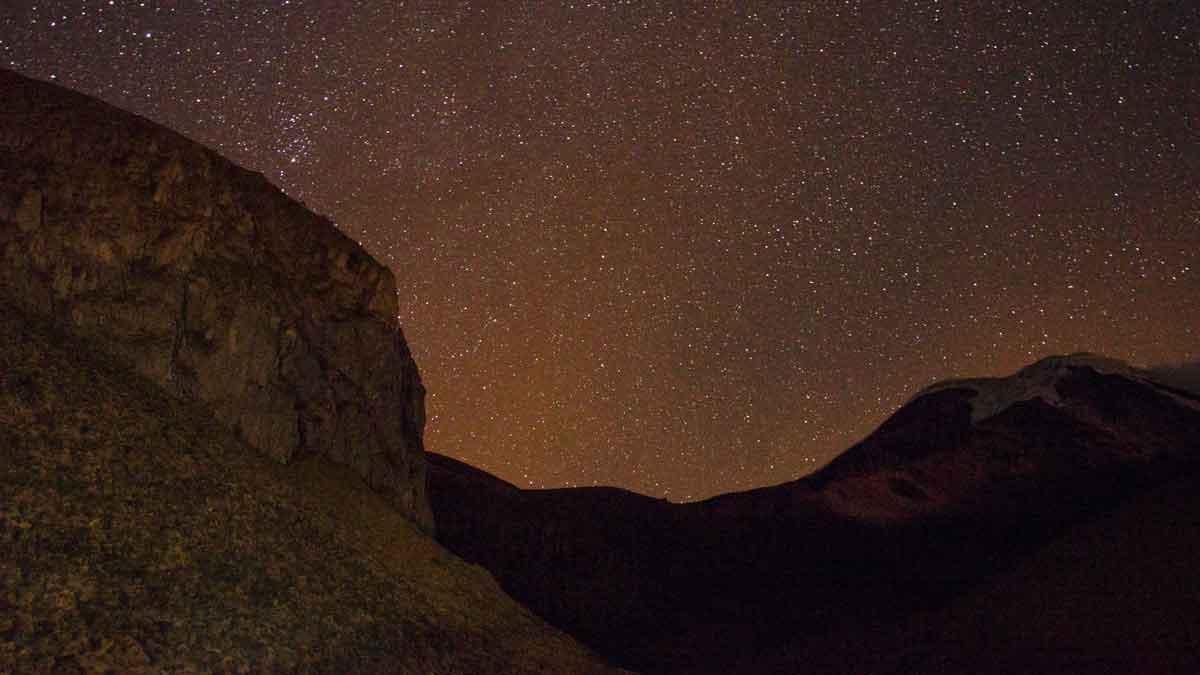 Chimborazo at Night, Chimborazo Lodge, Chimborazo Province, Ecuador