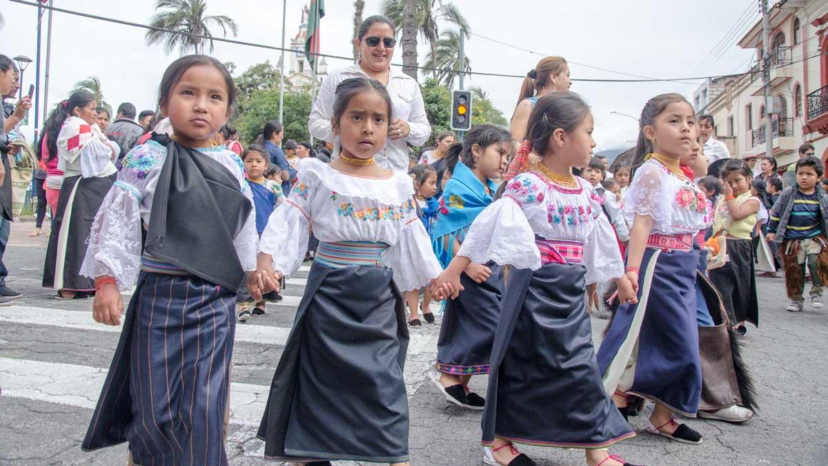 The Taking of the Plaza, School Children, Cotacachi, Ecuador | ©Angela Drake