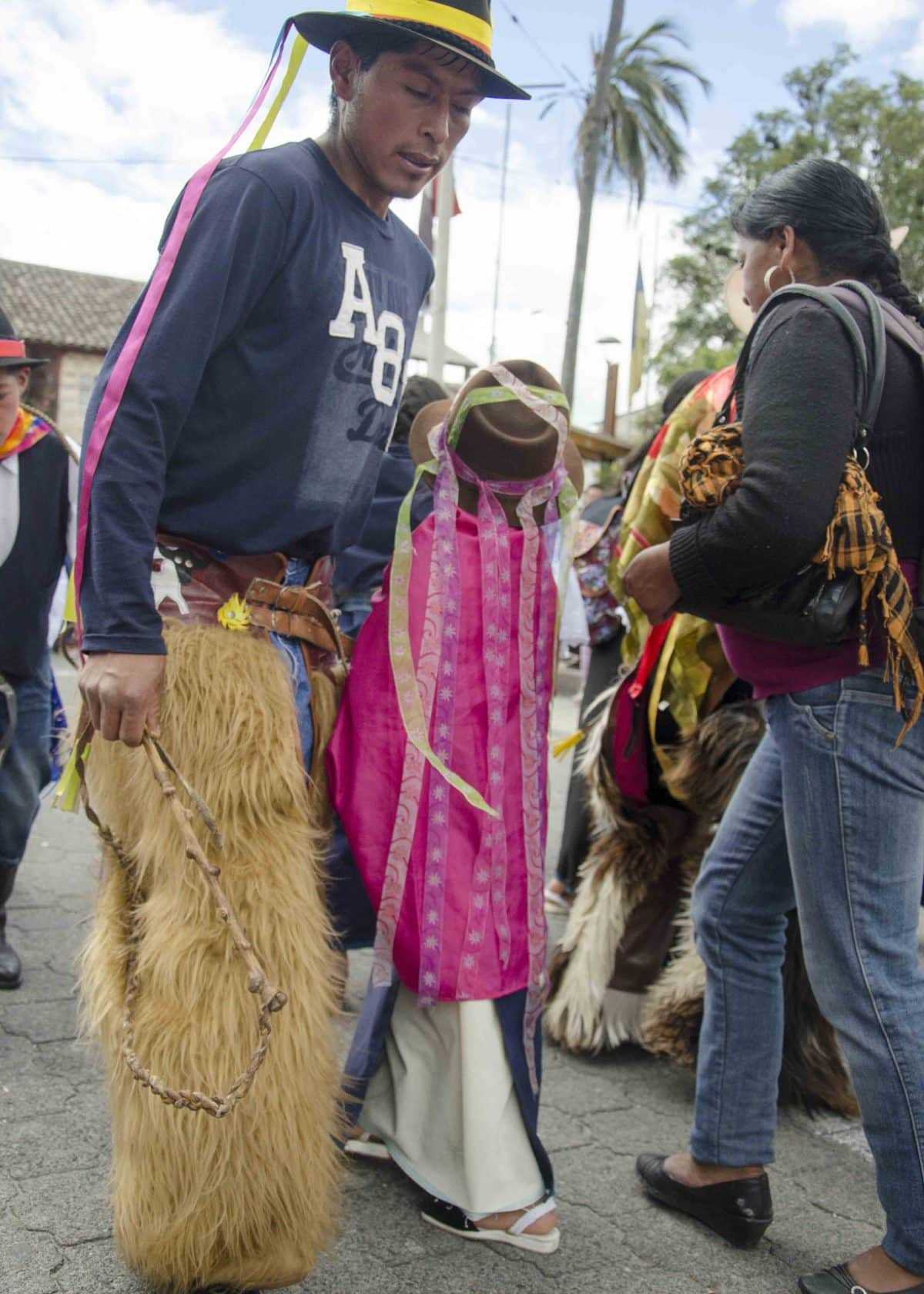 Dancers, Taking of the Plaza, School Children Day, Cotacachi, Ecuador
