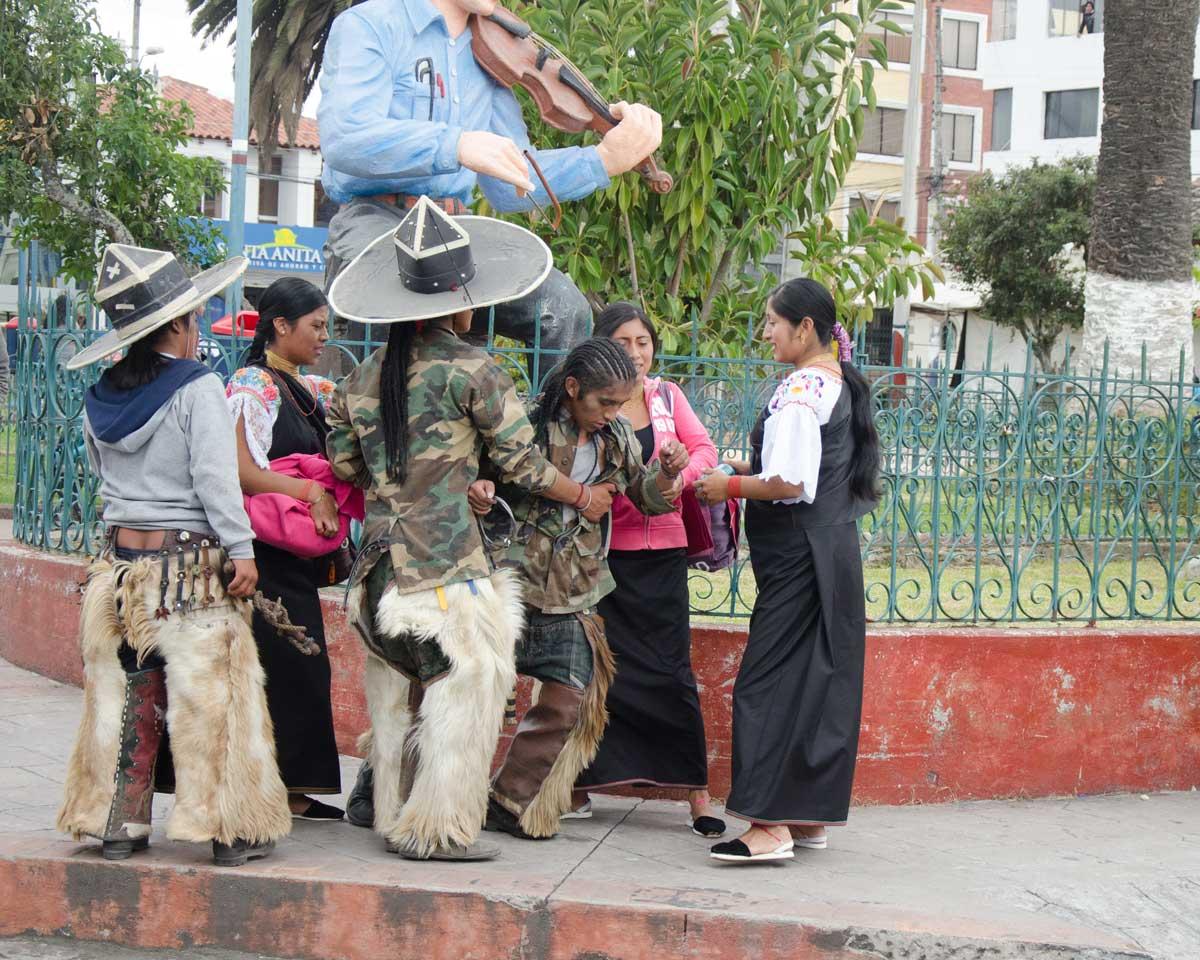 Too Much To Drink, Taking of the Plaza, Intiraymi, Cotacachi, Ecuador | ©Angela Drake