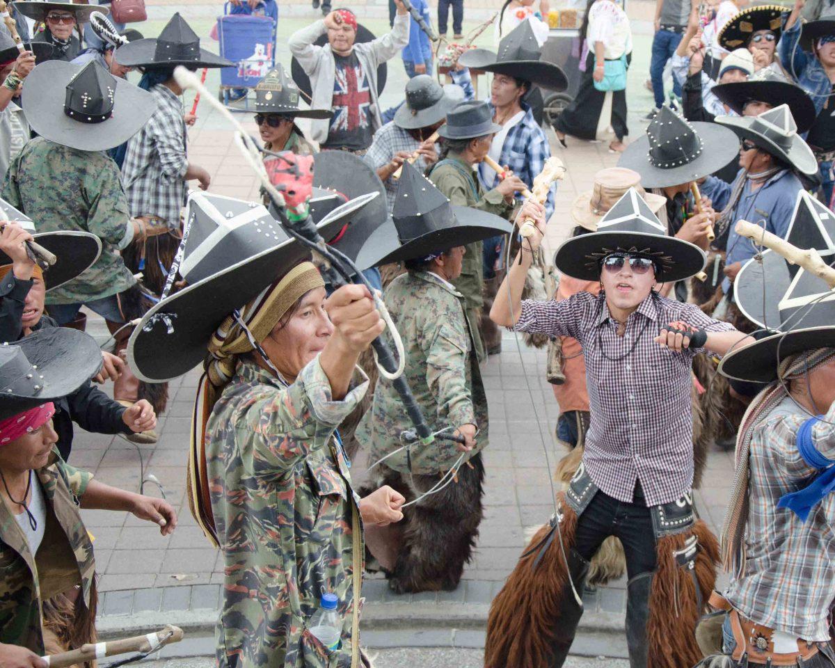 Taking of the Plaza, Adults, Cotachachi, Ecuador