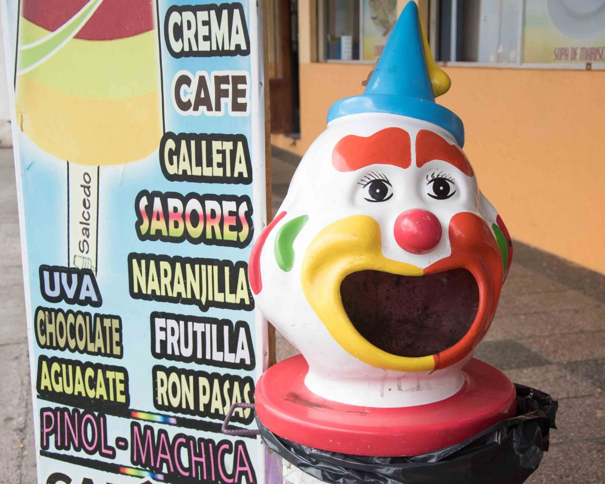 Traditional Clown in Salcedo, Ecuador
