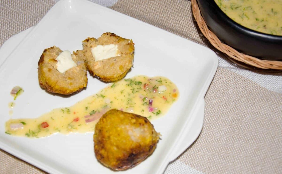 Bolón de Verde or Green Plantain Dumplings