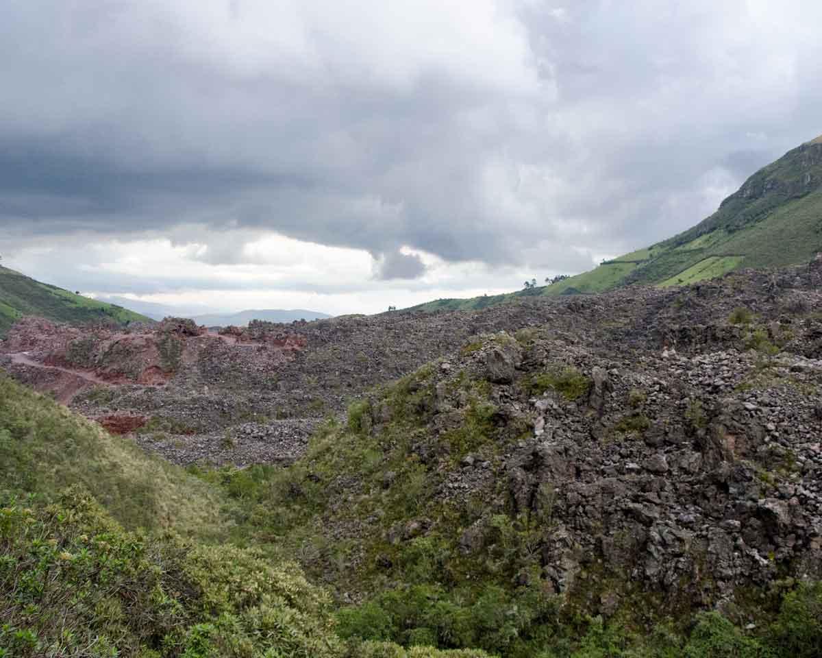 Volcanic Moraine on the Road to Laguna Mica   ©Angela Drake