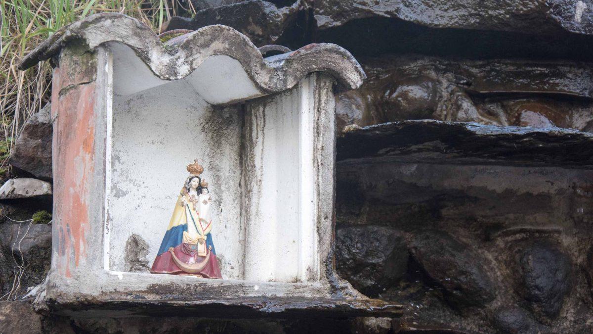 A small Virgin Mary at the fountain, Guaytara Lodge, Ecuador   ©Angela Drake / Not Your Average American
