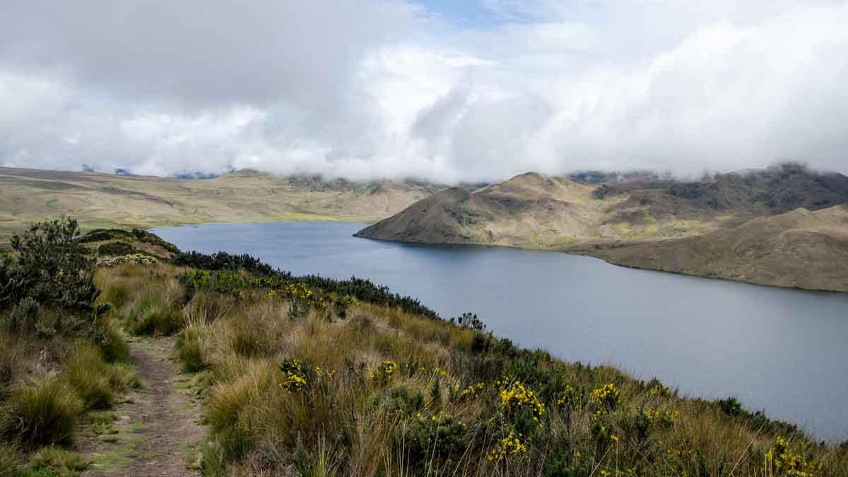 Laguna Mica on a Cloudy Day, Ecuador | ©Angela Drake / Not Your Average American