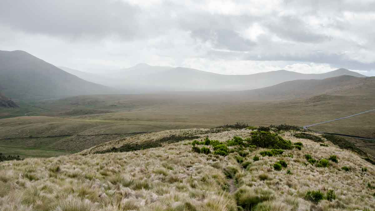 View from the trail at Laguna Mica, Ecuador | ©Angela Drake / Not Your Average American