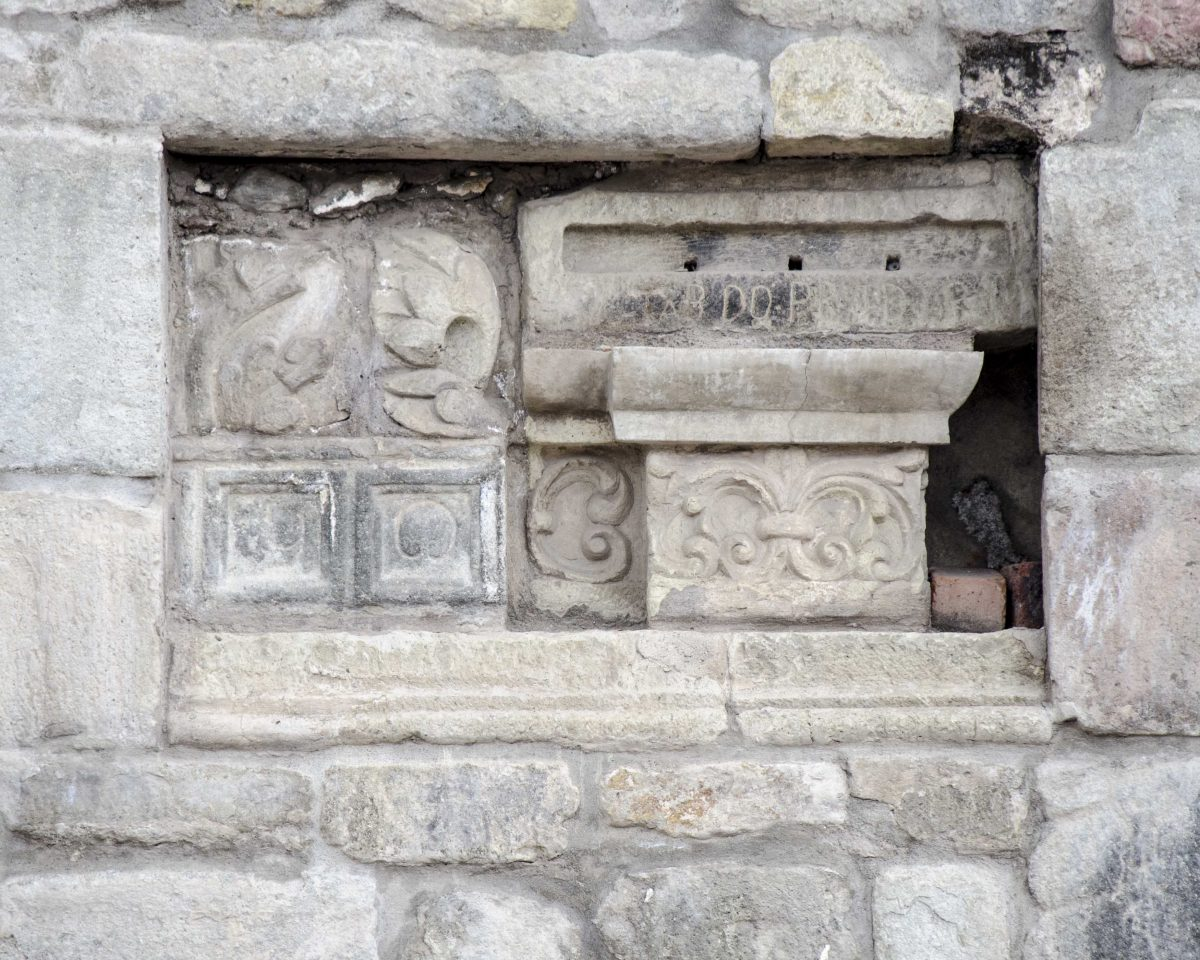Carved Stone at the Colonial Church in Sicalpa Viejo, Ecuador | ©Angela Drake / Not Your Average American