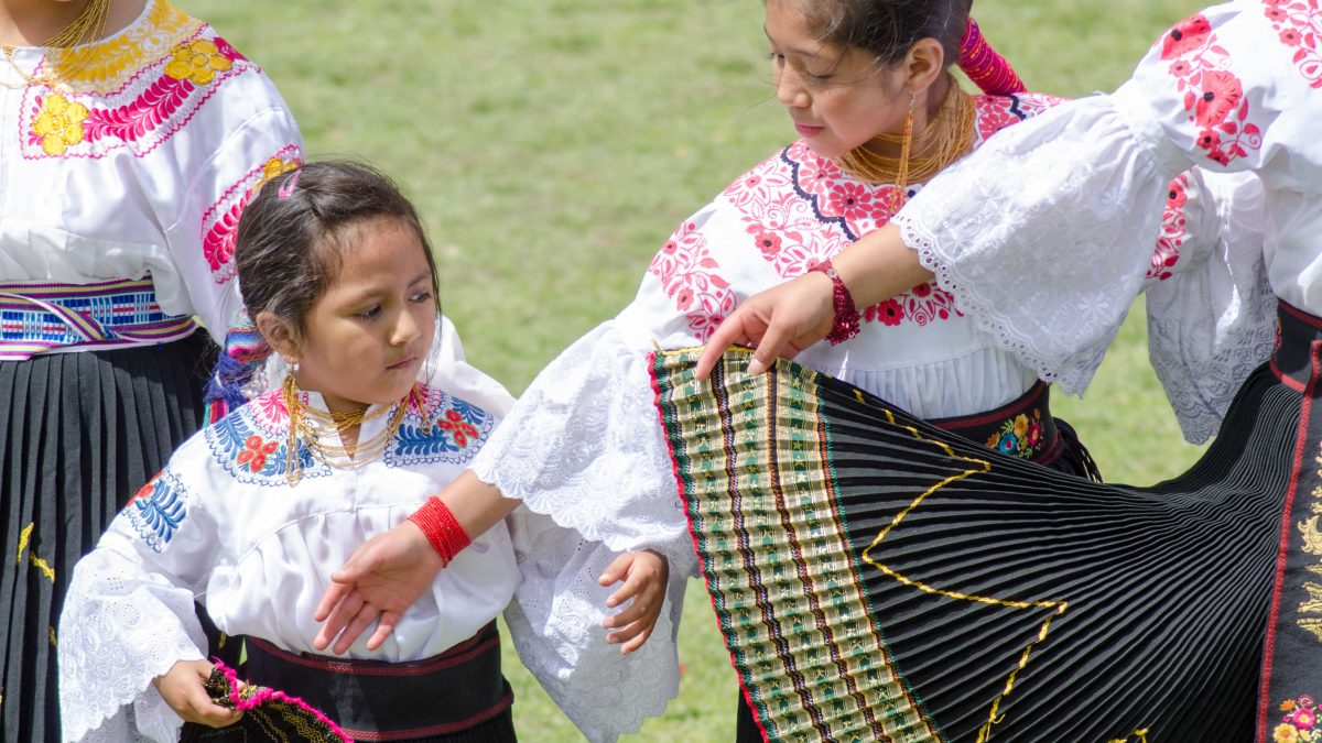 Dancers at Mushak Nina Celebration, Cochasquí, Ecuador | ©Angela Drake