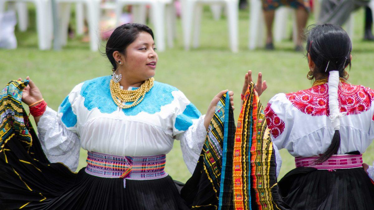Dancers at Andean New Year Celebration, Cochasquí, Ecuador | ©Angela Drake