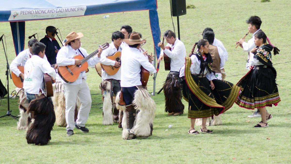 Band Plays Musica Andina at Mushak Nina Celebration, Cochasquí, Ecuador | ©Angela Drake