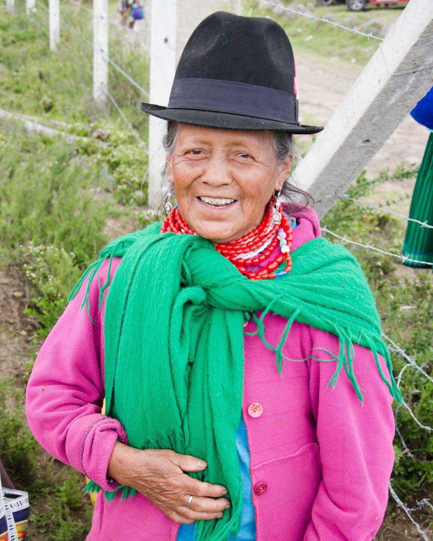Andean Woman Asks For a Photo, Cochasqui, Ecuador | ©Angela Drake