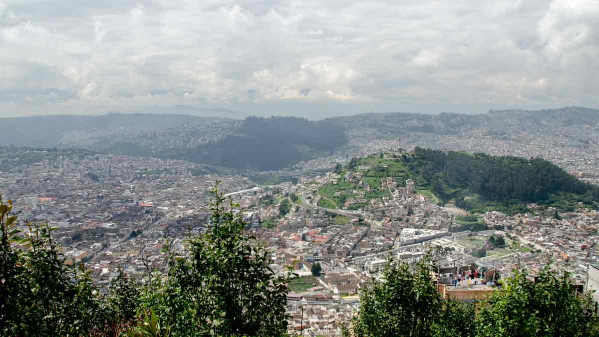 The Panecillo as seen from La Cima de la Libertad, Quito, Ecuador   ©Angela Drake