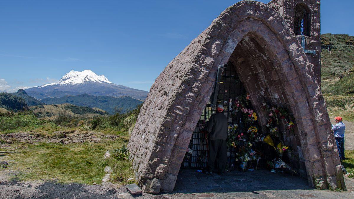 The Volcano Antisana photographed along the E-20 at Sector La Virgin, Ecuador   September 2015   © Angela Drake