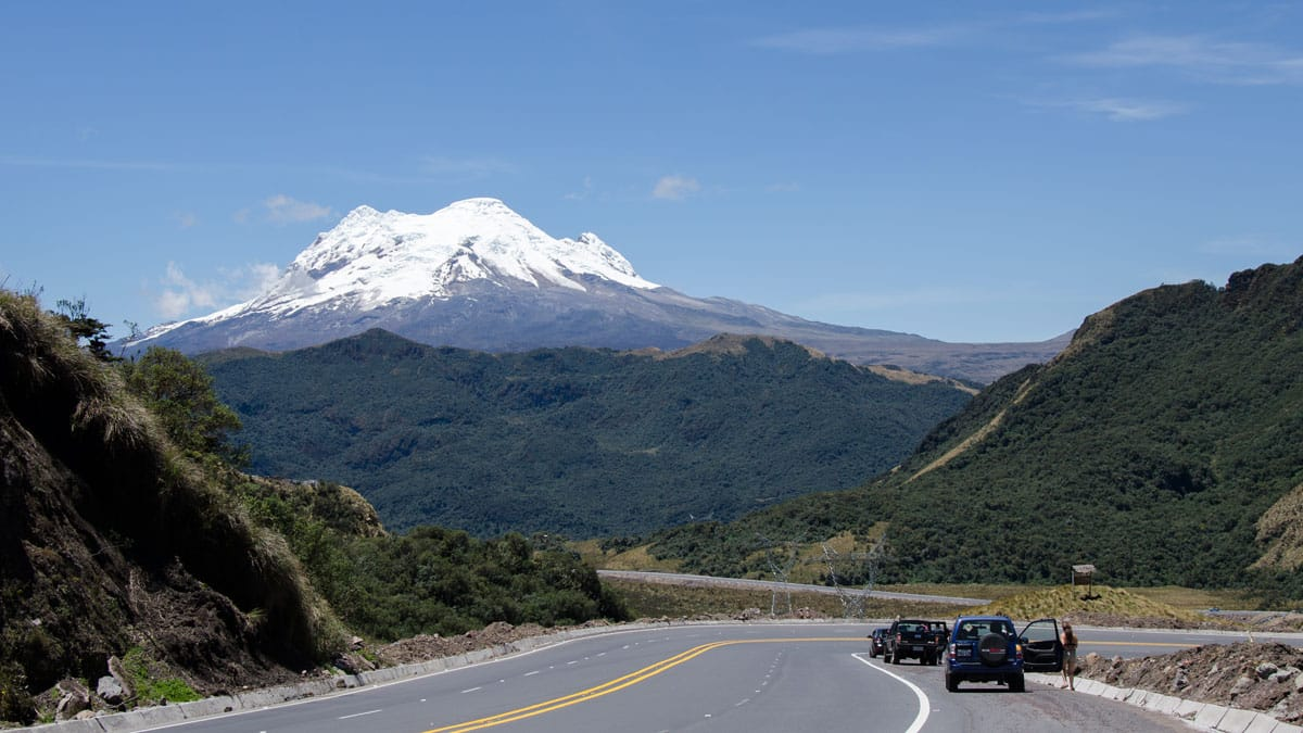 The Volcano Antisana photographed the E-20 near Sector La Virgin, Ecuador   September 2015   © Angela Drake