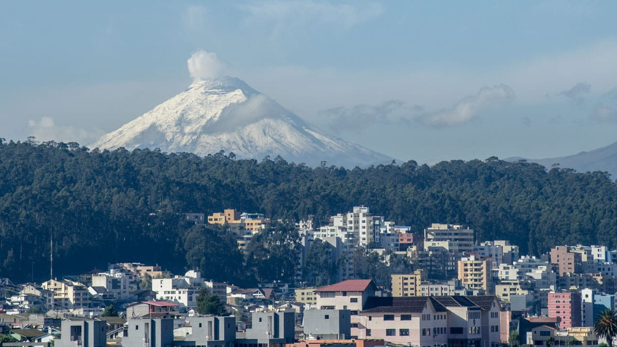 Cotopaxi from North Quito | April 2016 | ©Angela Drake