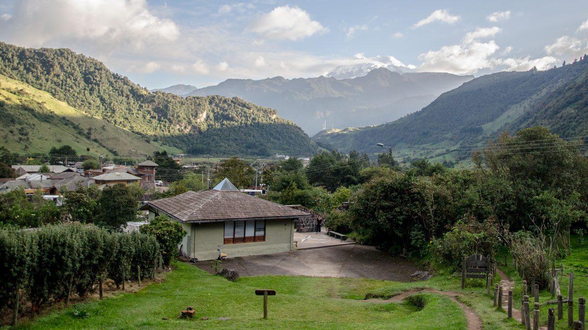 The Volcano Antisana photographed from La Cruz at Termas Papallacta, Ecuador   January 2014   © Angela Drake