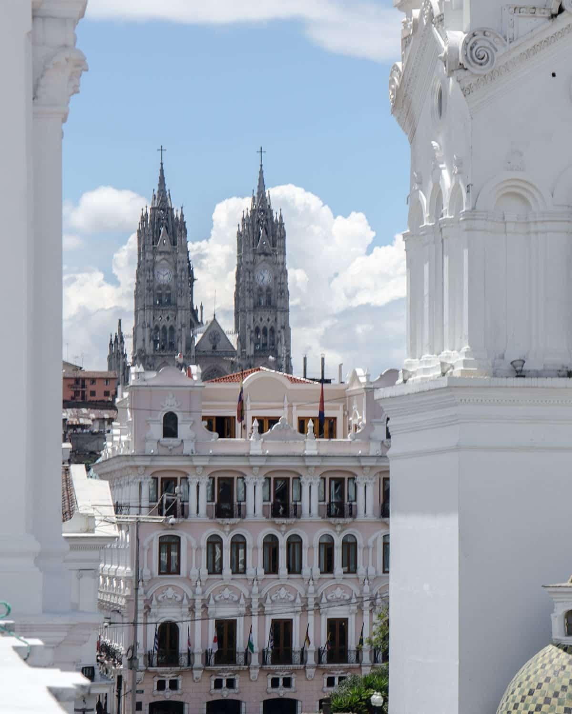 View of La Basilica del Voto Nacional from the Cultural Center, Quito, Ecuador | ©Angela Drake
