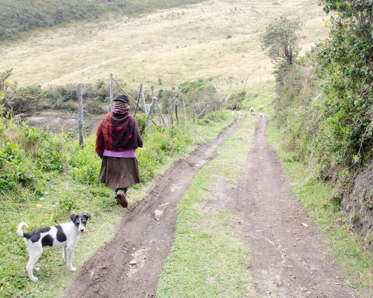 Farmer living near the Yanacocha Reserve, Ecuador | ©Angela Drake