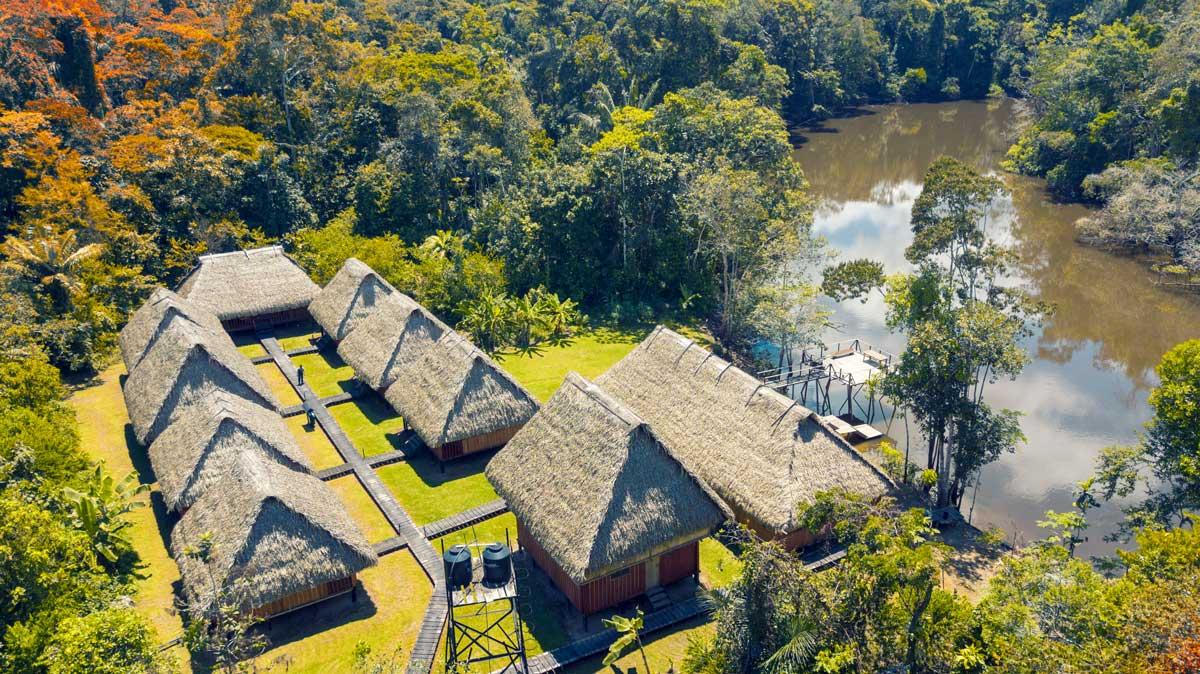 Kichwa Amazon Lodge in the Cuyabeno Wildlife Reserve, Ecuador   photo provided by Edgar Noteno