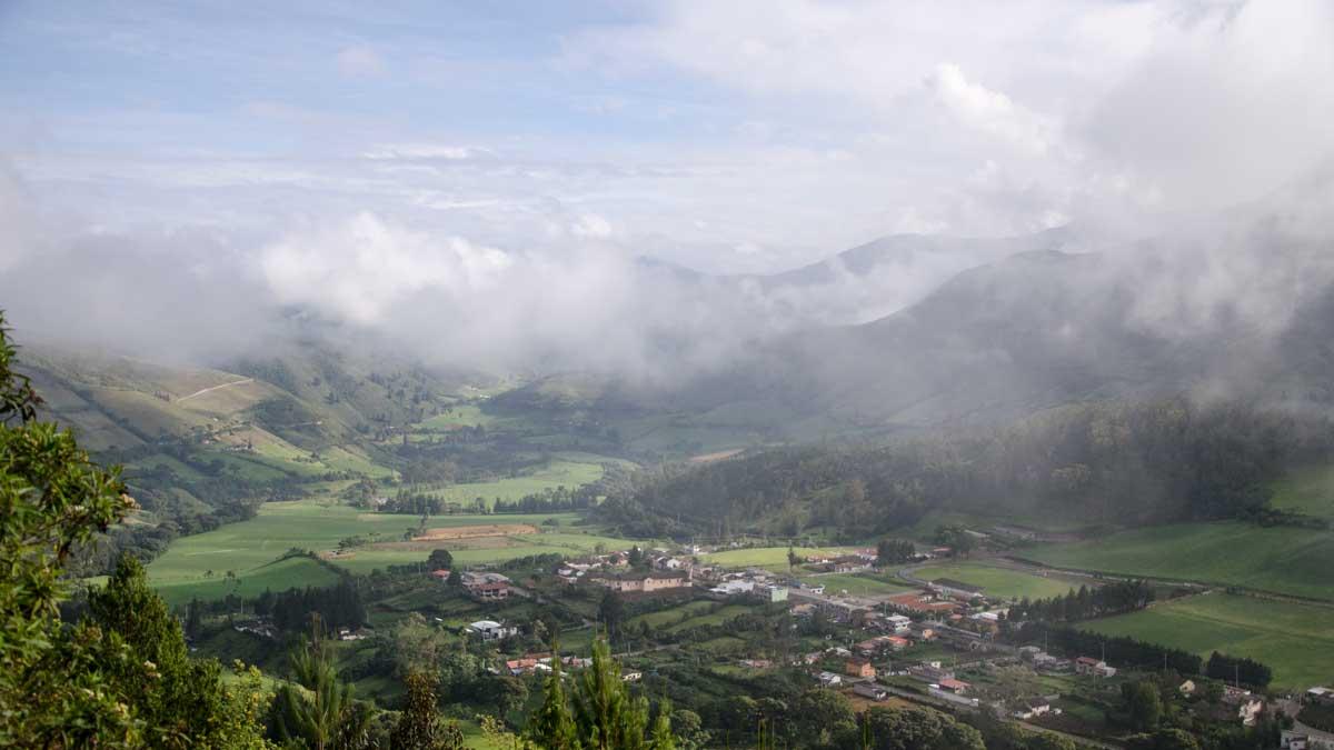 Nono, Ecuador as seen from the road to Yanacocha   ©Angela Drake