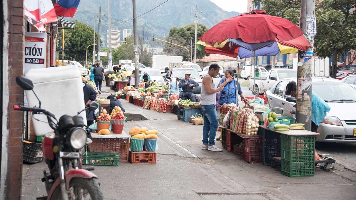 Outdoors at the Plaza Mercado de Paloquemao   ©Angela Drake