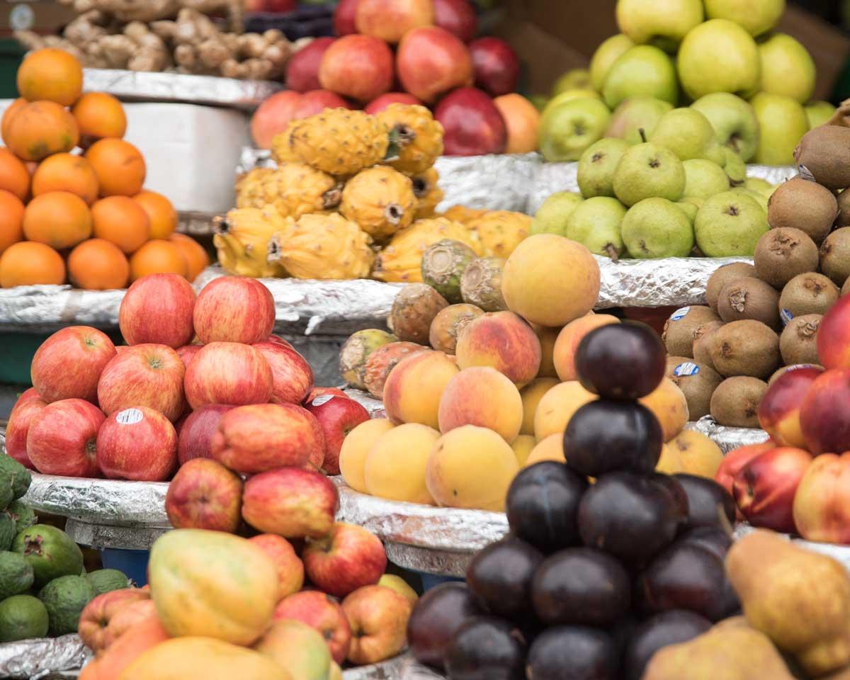 Fruit Stand, Plaza de Mercado Paloquemao   ©Angela Drake