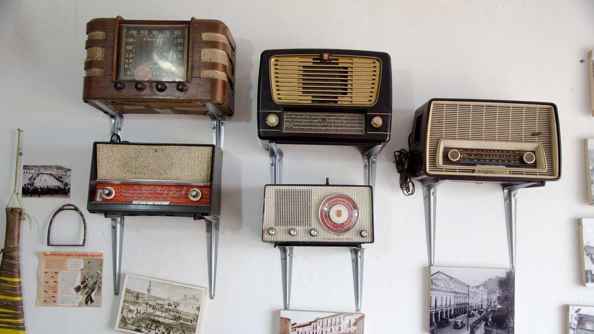 Old Radios, La Casa de La Empanada, Nono, Ecuador   ©Angela Drake