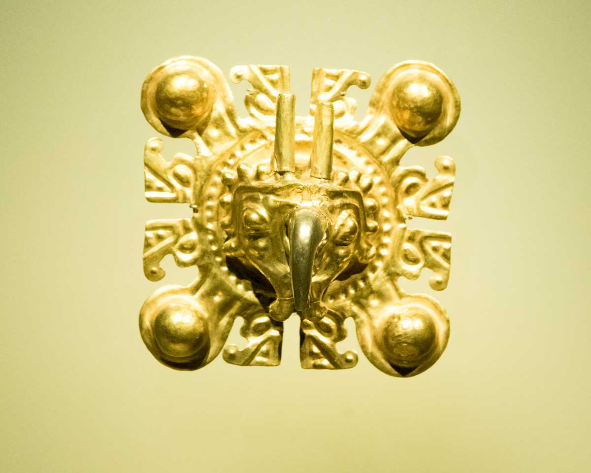 Gold Eagle Image   Gold Museum Bogota   ©Angela Drake