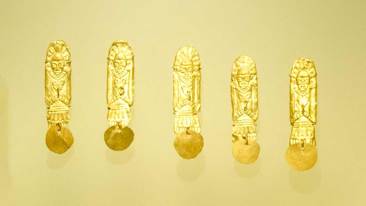 Gold Figures Made Using Wax Mold, 1080 CE in Chichinquirá, Boyacá   Gold Museum Bogota   ©Angela Drake