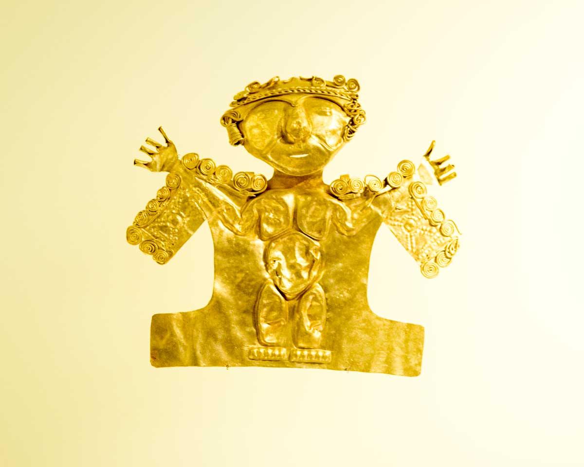 Figure Made Using Hammered Gold   Gold Museum Bogota   ©Angela Drake