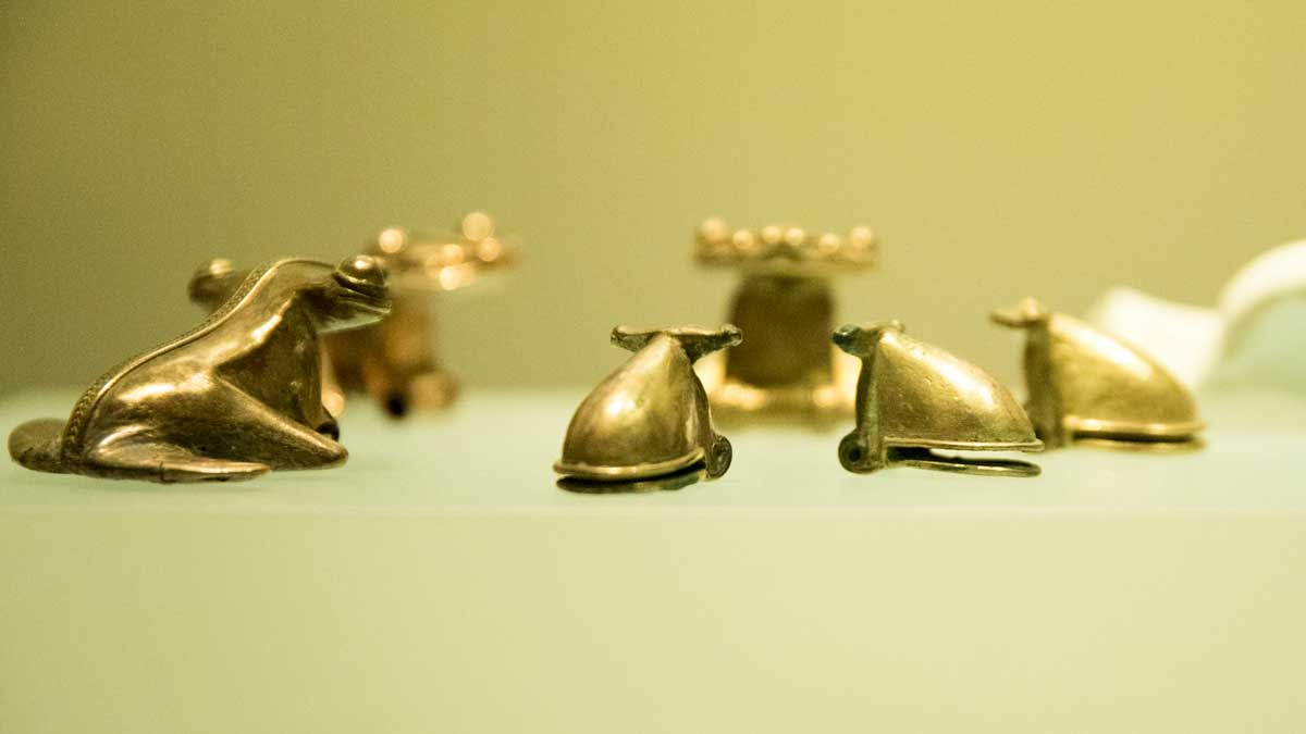 Golden Frogs   Gold Museum Bogota   ©Angela Drake