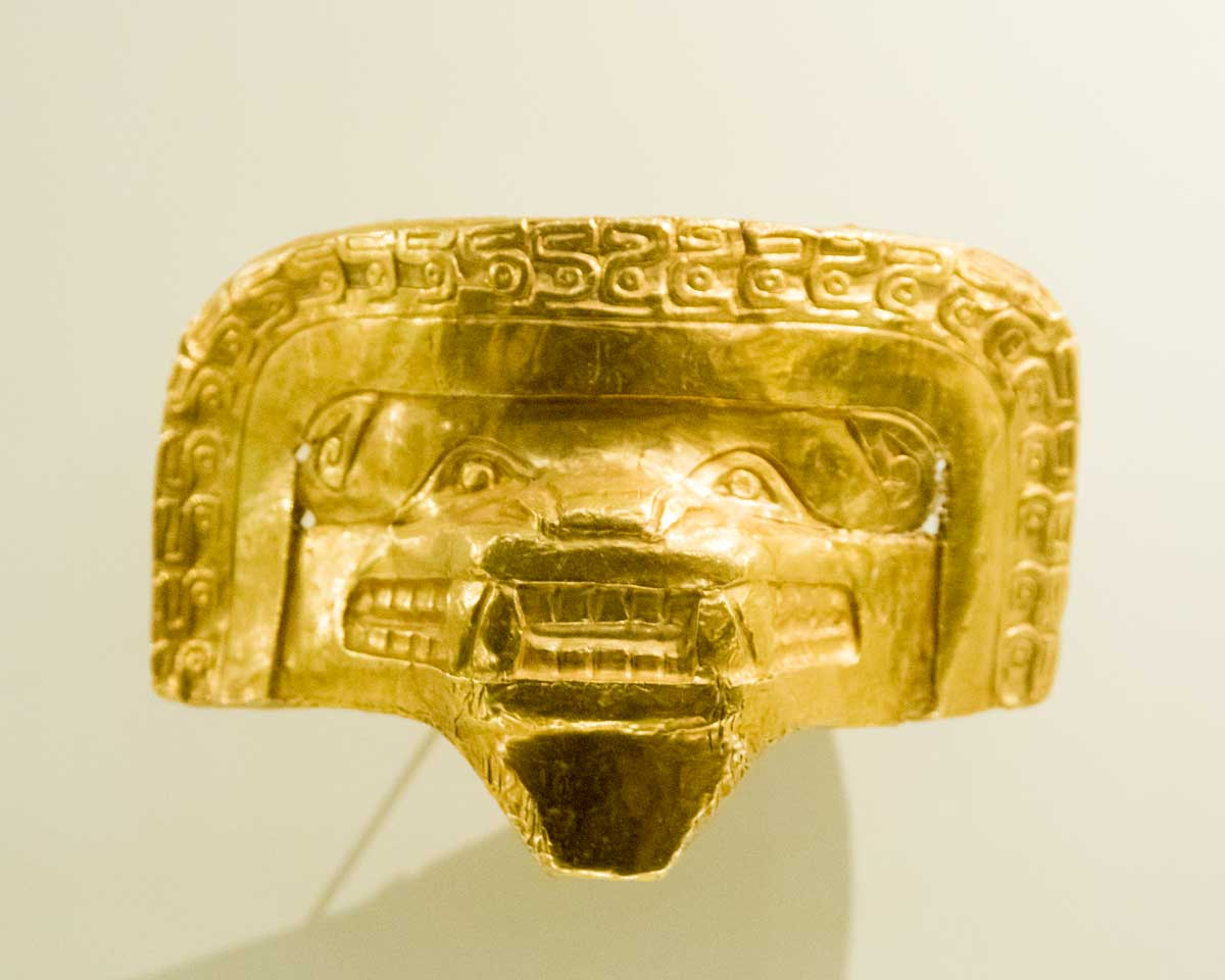 Puma Mask   Gold Museum Bogota   ©Angela Drake