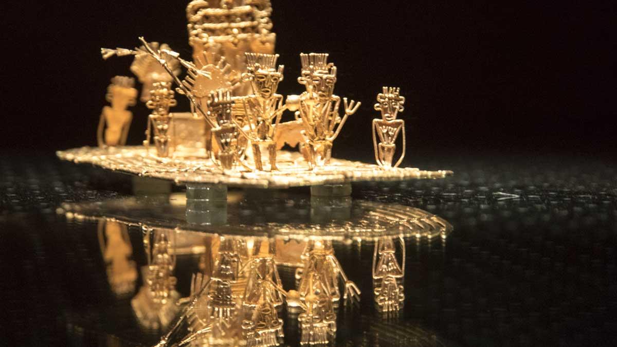 Detail of The Offering   Gold Museum Bogota   ©Angela Drake