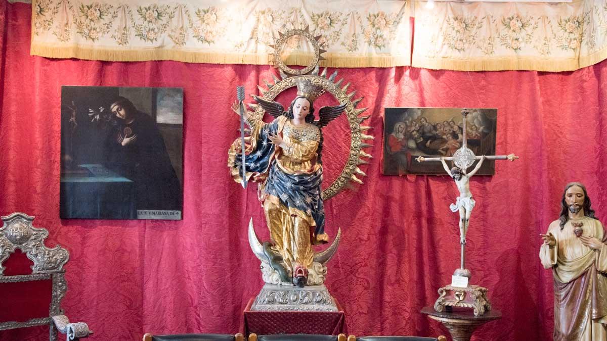 Carved Virgin of the Apocalypse of the Quito School, Museo Arquidiocesano de Arte Religioso | ©Angela Drake