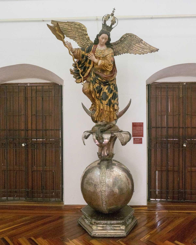 Carved Virgin of the Apocalypse of the Quito School, Museo Arquidiocesano de Arte Religioso | ©Scott Drake