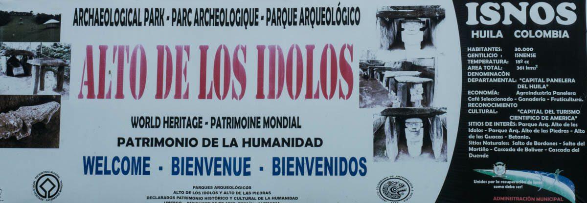 Alto de los Idolos in Southern Colombia