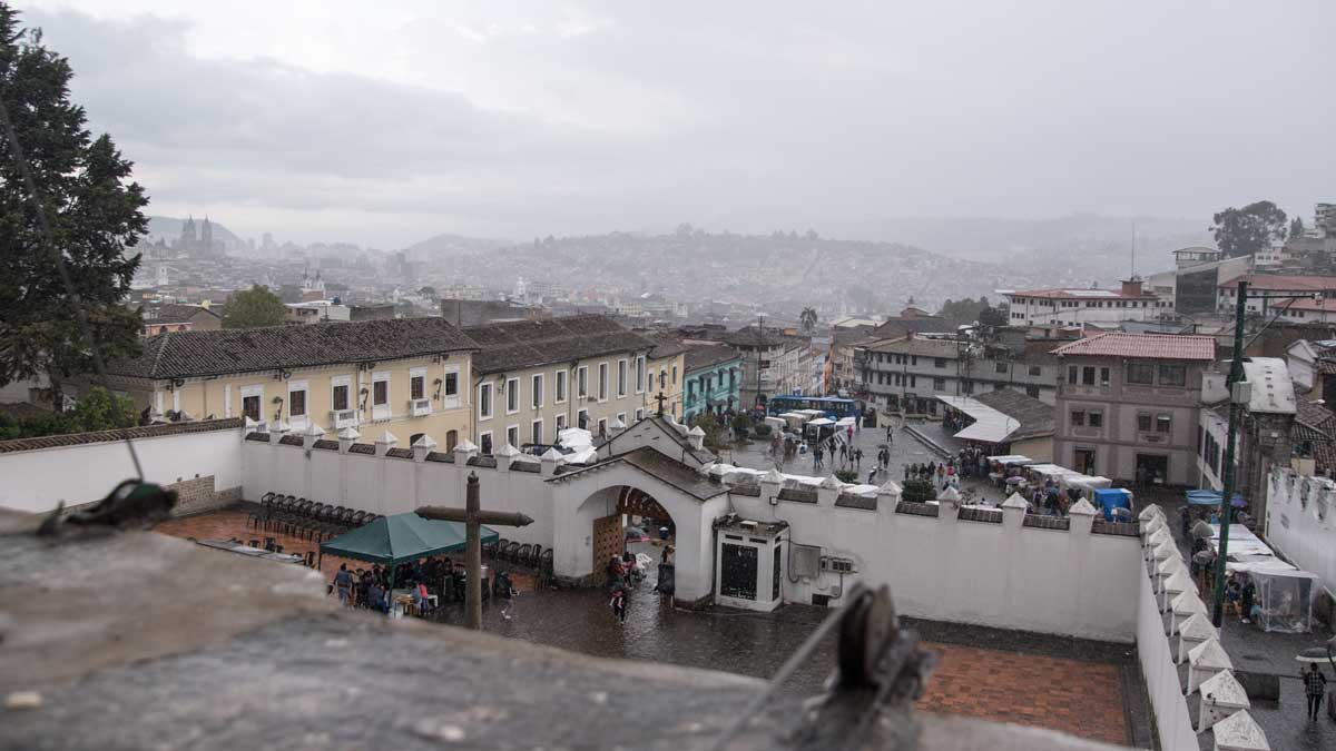 View of Quito from the Rooftops, San Diego Convent, Quito | ©Angela Drake