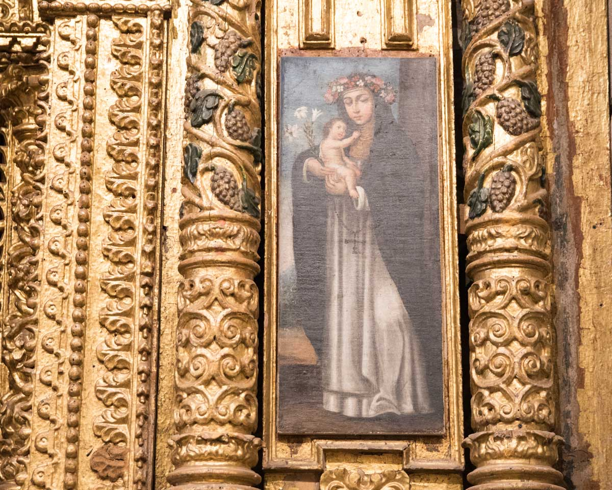 Detail of A Side Altar, San Diego Convent, Quito | ©Angela Drake