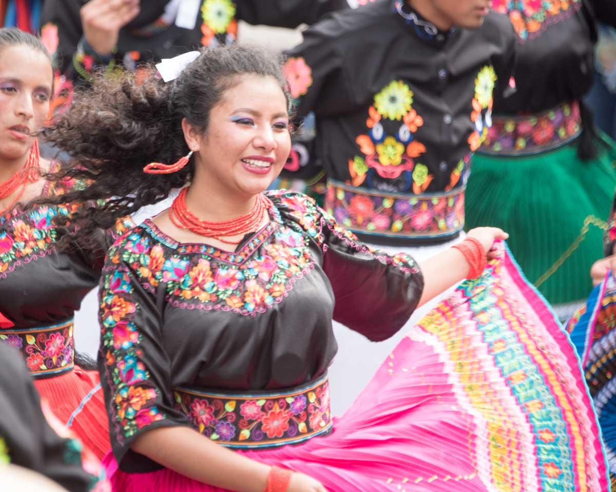 Folk Dancer, Mama Negra, Latacunga, Ecuador   ©Angela Drake