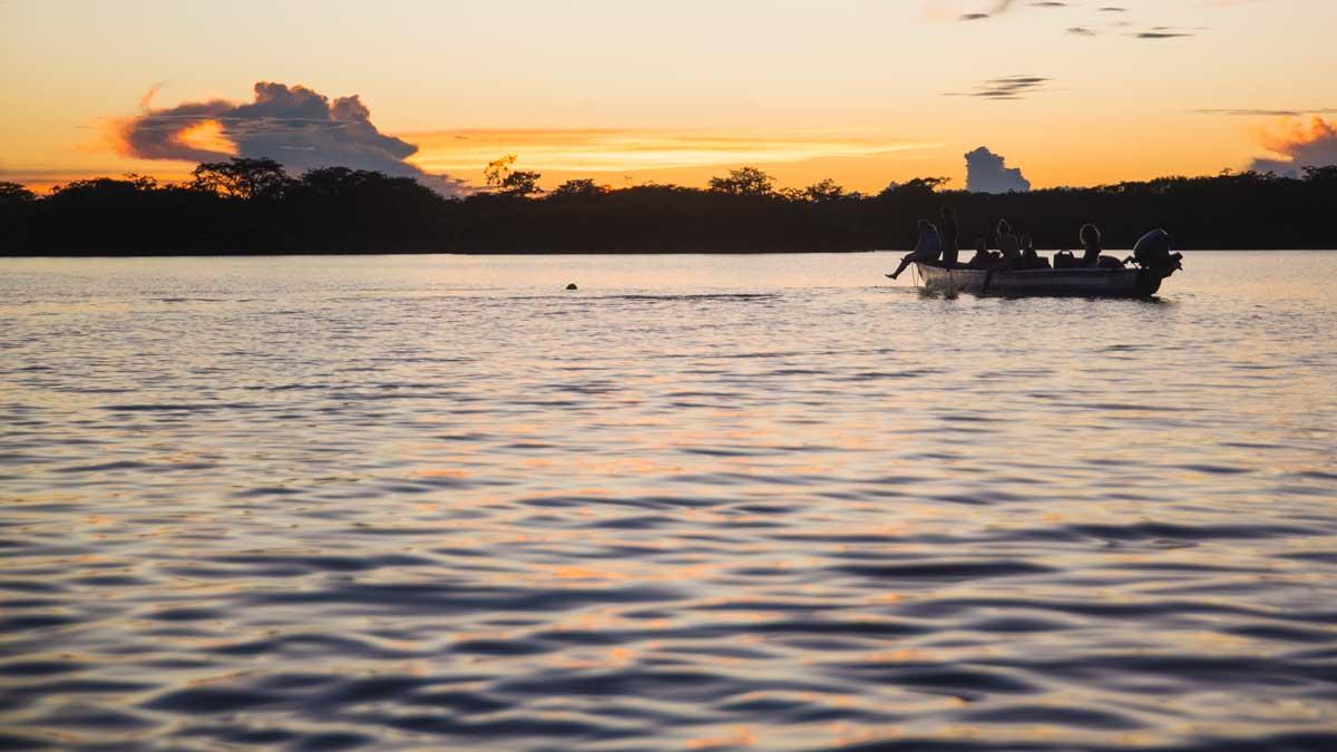 Sunset on Laguna Grande, Cuyabeno, Ecuador | ©Angela Drake