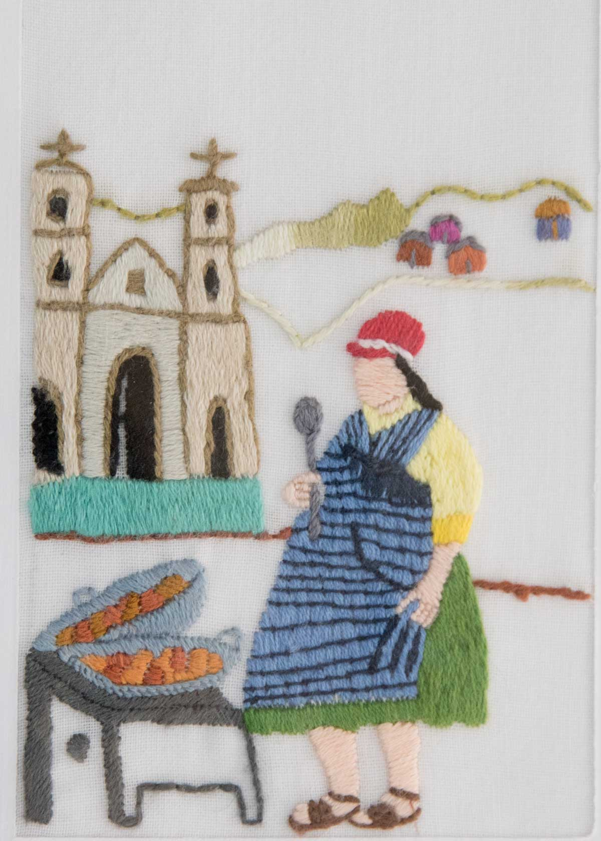 Cuenca Vendor; Exhibit of Cuenca Fiber Artists | ©Angela Drake